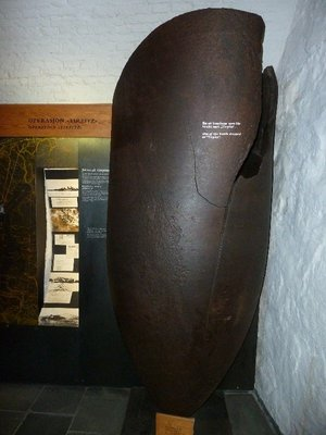 One of the bombs the RAF dropped on the Tirpitz