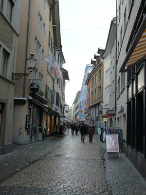 Cobbled Street in Zurich