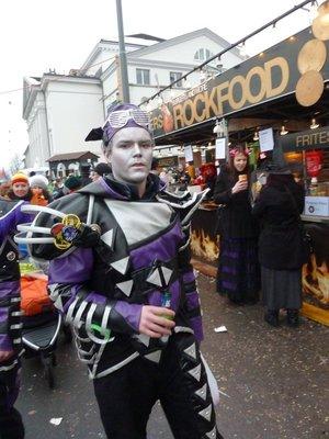 Carnival goer at Luzern Carnival