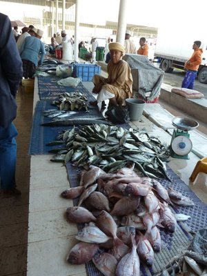 Stallholder at Mutrah Fish Market