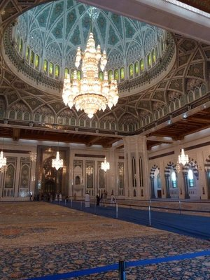The Main Prayer Hall and Quibla at the Sultan Qaboos Grand Mosque