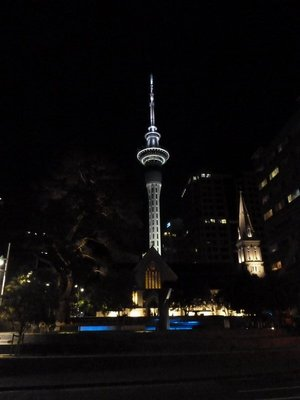 The Skytower at night
