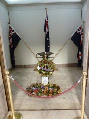 Inside the ANZAC Memorial in Hyde Park
