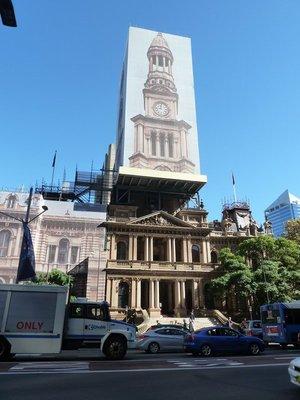 Sydney Town Hall being restored