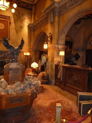 Reception Desk inside the Hollywood Tower Hotel - Welcome to the Twilight Zone!