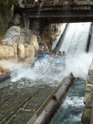 A raft gets soaked on the Grizzly River Whitewater Rafting Run
