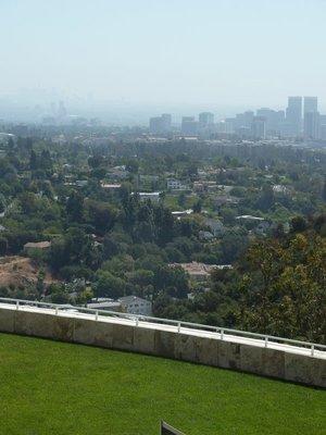 The view east past Century City towards Downtown LA on the distant horizon