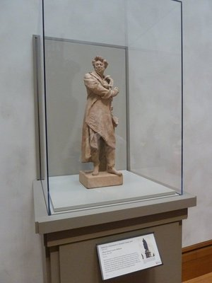 Model of a monument to Alexandre Dumas (author of The Three Musketeers) by Albert-Ernest Carrier-Belleuse (1883)