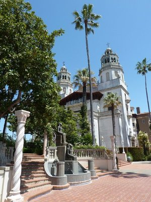 The view of Hearst Castle's Casa Grande from the Southern Esplanade