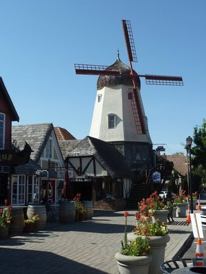 Close up of the Windmill on Alisal Road in Solvang