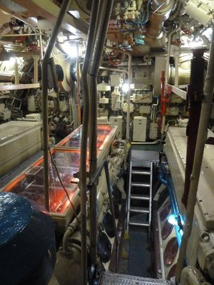 The Engine Room aboard the b-427 Scorpion