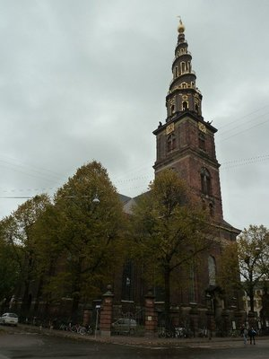 Vor Frelsers Kirke (Our Saviour's Church) with its outside spiral staircase