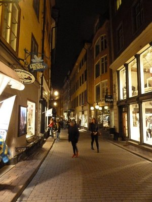 An evening stroll along Vasterkanggatan in the Gamla Stan