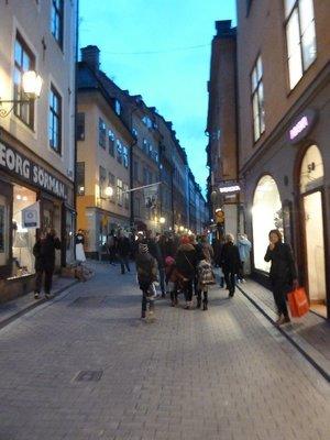 Vasterlanggatan in Gamla Stan, Stockholm's old town