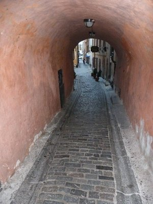 A narrow alleyway in Gamla Stan