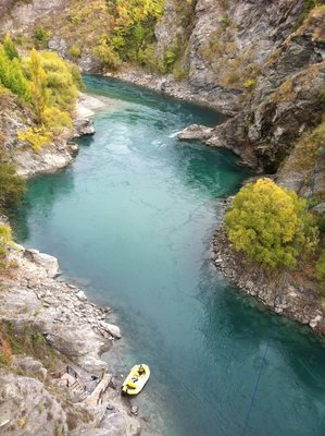 Ignoring the bungy jumping for a minute, it is actually quite a pretty gorge!