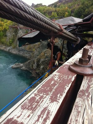 Bungy Jumper eye view of the river