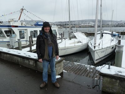 Me beside the Lake in Zurich Harbour