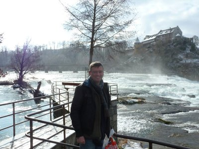 Picture of me at the top of Rheinfall
