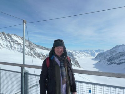 Me at the Sphinx Vantage Point at Jungfraujoch