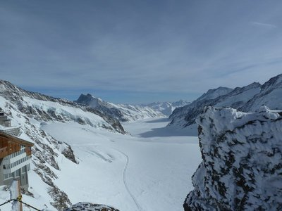 View of the Aletsch Glacier from Jungfraujoch