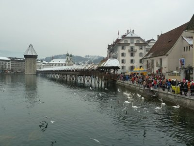The Kapelbrucke Bridge in Luzern