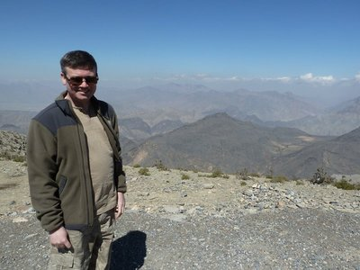 Me at the Alamayn Viewpoint at the top of the Snake Pass in the Western Hajar Mountains
