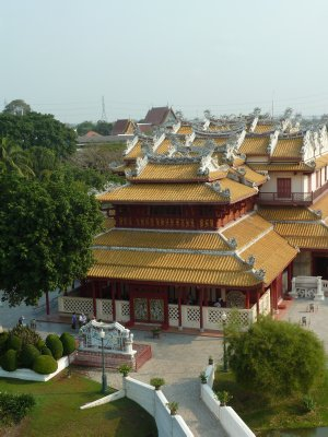The Phra Thinang (Royal Residence) Wehart Chamrun from the Ho withun Thasuna