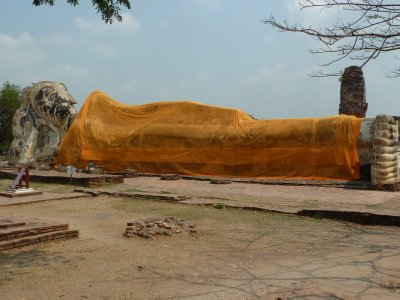 The Reclining Buddha at Wat Lokayasutharam
