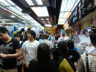 Crowds shopping in the MBK Center