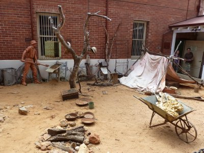 Recreation of Prospectors' Campsite at Perth Mint