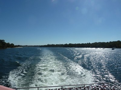 View from the ferry on the Swan River between Perth and Fremantle
