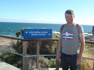 Me at the meeting point of the Indian and Southern Oceans