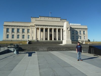 Me stood outside the Auckland War Memorial Museum