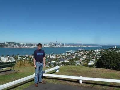 The spectacular view of Auckland Harbour from Mount Victoria
