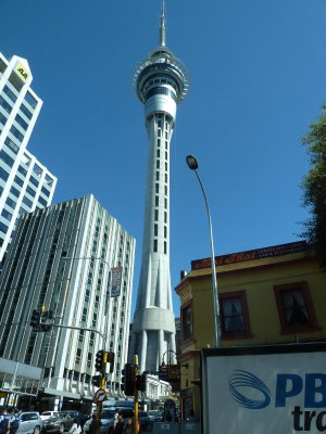 The Skytower from Albert Street