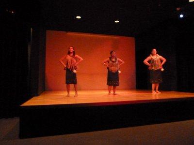 The Ladies of the Maori Dance Troupe prepare to do the Poi
