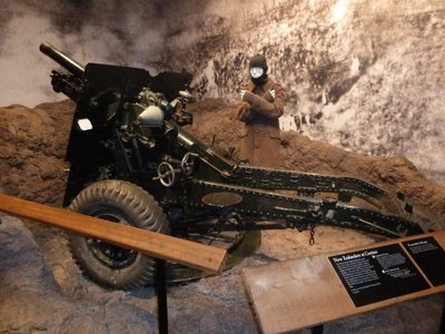 World War II Field Gun from the Italian Campaign in the Auckland Museum