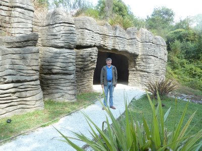 Me stood at the entrance to Ruakuri Cave