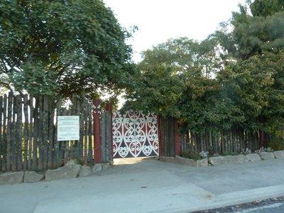 The gate to the King's Marae at Ngaruawahia