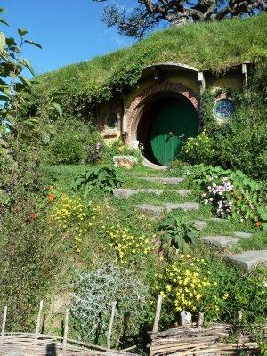 Bag End where Bilbo and Frodo Baggins live