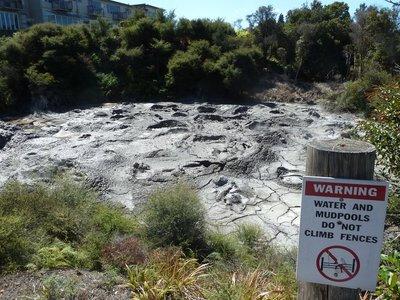 The Ngamokaiakoko Mud Pool at Te Puia