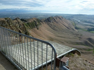 The hang gliding launch ramp on Te Mata Peak