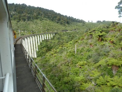 Crossing a large viaduct on the way down  to Wellington