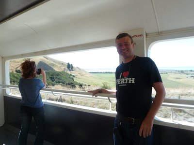 Me in the open air viewing carriage