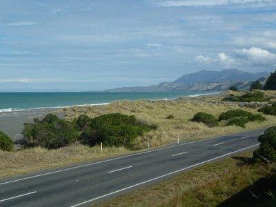 The Kaikoura Mountains reach the sea with dramatic headlands