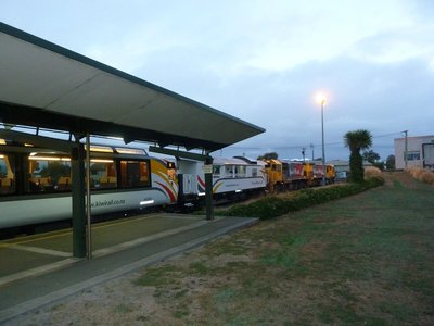 The TranzAlpine about to leave Christchurch Station for Greymouth