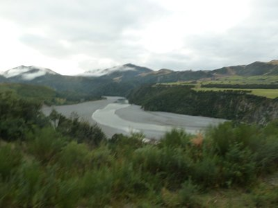 The railway ran alongside increasingly deep river gorges as we climbed up into the mountains