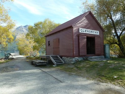 The historic Glenorchy Wharf Shed