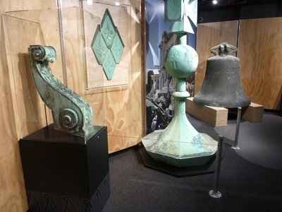 The cathedral bell and other artifacts in Quake City